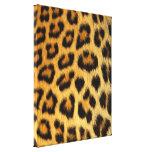 Impressão da pele do leopardo impressão de canvas envolvidas