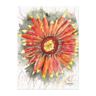 Impressão da pintura da flor da extra grande em ca impressão de canvas envolvidas