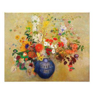 Impressão da pintura da flor do vintage impressão de foto
