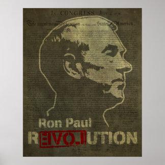 Impressão da revolução de Ron Paul