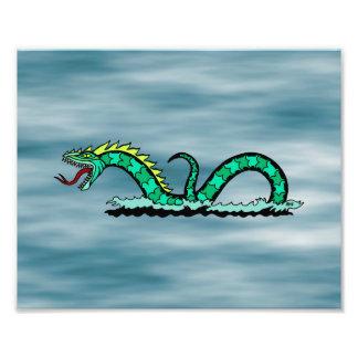 Impressão da serpente de mar impressão de foto