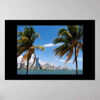 Impressão da skyline de Miami