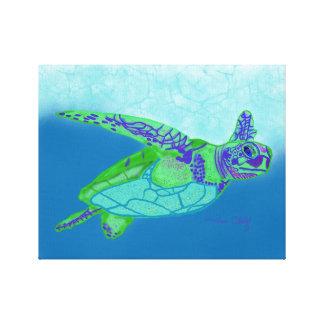 Impressão da tartaruga de mar
