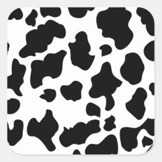Impressão da vaca adesivos quadrados