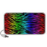 Impressão da zebra do arco-íris caixinhas de som para laptop