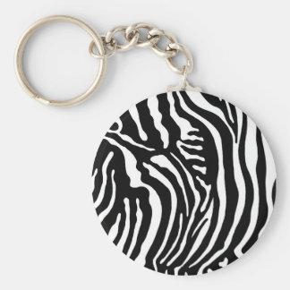 Impressão da zebra chaveiros