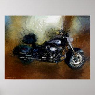 Impressão das belas artes da motocicleta de Harley