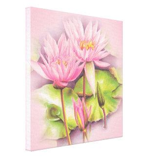 Impressão das belas artes das canvas do rosa do