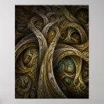 """Impressão das belas artes de """"Yggdrasil"""""""
