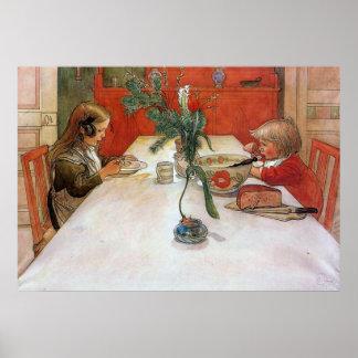 Impressão das belas artes do poster da refeição de