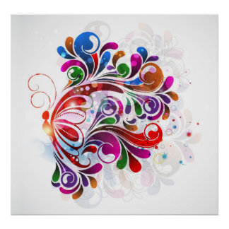 Impressão das borboletas do amor