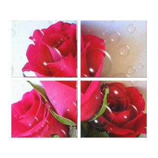 Impressão das canvas - bolhas cor-de-rosa
