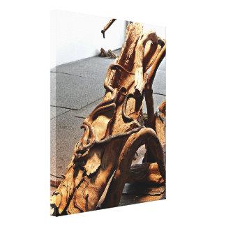 Impressão das canvas - cobras de Brown no registro