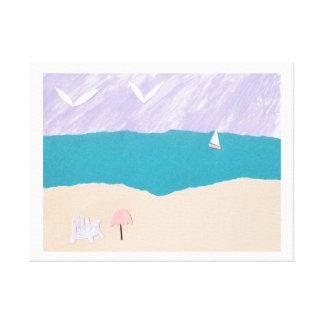Impressão das canvas com design da praia