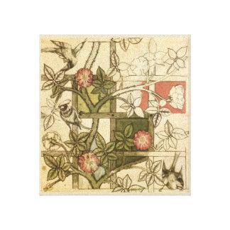 Impressão das canvas com design da treliça