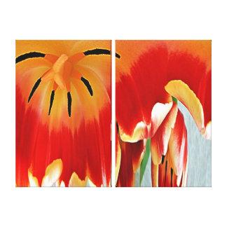Impressão das canvas - coração de uma tulipa