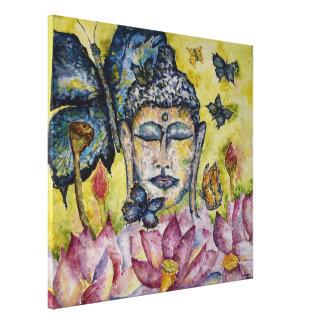 Impressão das canvas da aguarela da borboleta de