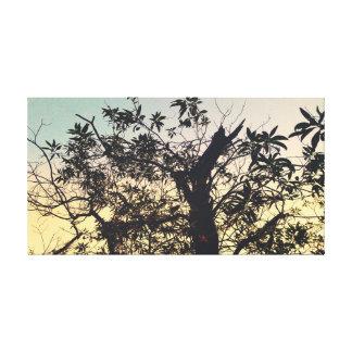 Impressão das canvas da árvore da manhã