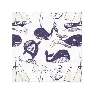 Impressão das canvas da baleia