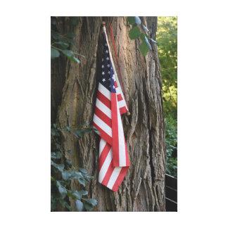 Impressão das canvas da bandeira americana