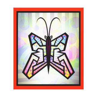 Impressão das canvas da borboleta da arte abstract impressão em canvas