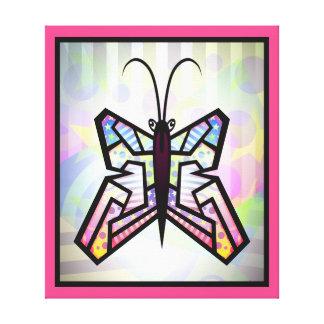 Impressão das canvas da borboleta da arte abstract impressão de canvas esticada