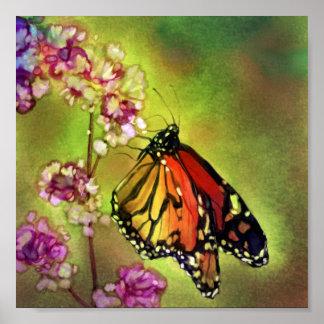 Impressão das canvas da borboleta de monarca da ag