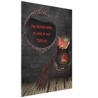 Impressão das canvas da bruxa da cozinha impressão de canvas envolvidas