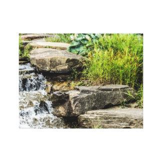 Impressão das canvas da cachoeira