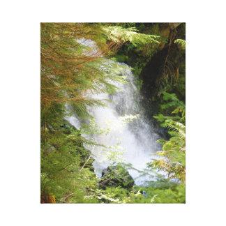 Impressão das canvas da cachoeira do Monte Rainier