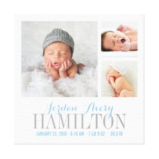 Impressão das canvas da colagem da foto do bebê do
