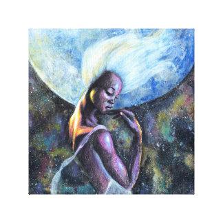 Impressão das canvas da deusa da lua