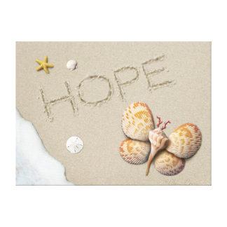 """Impressão das canvas da """"esperança"""" de Alan Giana"""