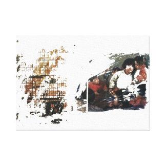 Impressão das canvas da família da arte moderna