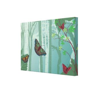 Impressão das canvas da fantasia das borboletas impressão de canvas esticada