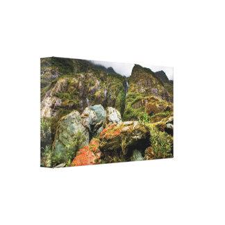Impressão das canvas da floresta húmida impressão de canvas envolvidas