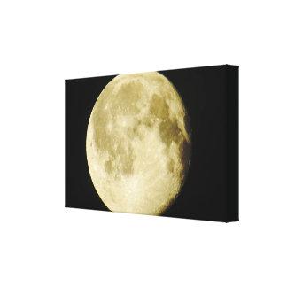 Impressão das canvas da foto da Lua cheia