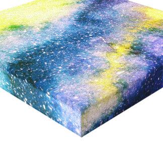 Impressão das canvas da galáxia da pintura da