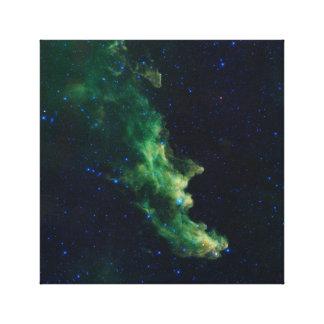 Impressão das canvas da galáxia do espaço