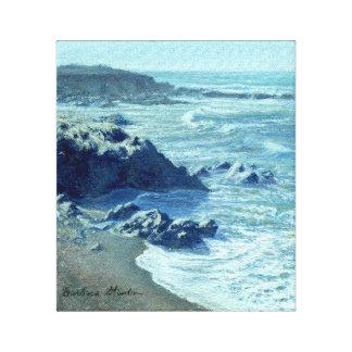 """""""Impressão das canvas da galeria da linha costeira"""