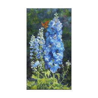 """Impressão das canvas da galeria dos """"Delphiniums"""""""