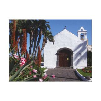 Impressão das canvas da igreja de Tenerife