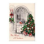 Impressão das canvas da janela do Natal grande Impressão De Canvas Envolvidas