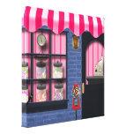 Impressão das canvas da loja dos doces impressão de canvas esticadas