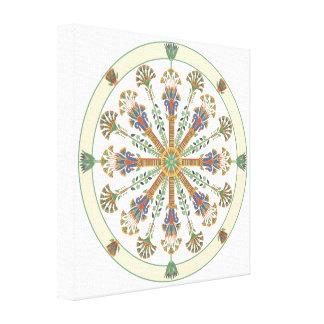 Impressão das canvas da mandala de Nouveau Lotus