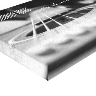 Impressão das canvas da música country da guitarra