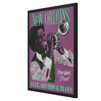 Impressão das canvas da música de Nova Orleães
