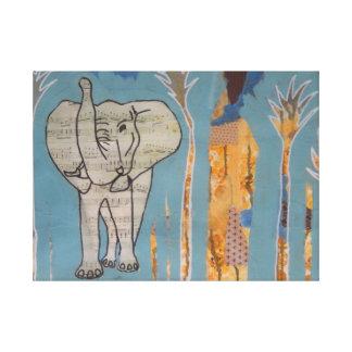 Impressão das canvas da música do elefante
