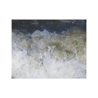 impressão das canvas da onda de oceano