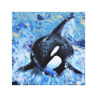 Impressão das canvas da orca